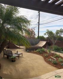 back yard skate mini ramp, half pipe | decomposed granite | lawn removal