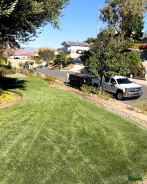 front yard transformation | artificial turf
