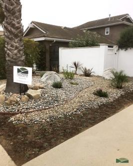 front yard transformation | low maintenance design | water-wise design