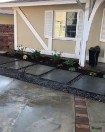 custom concrete pavers | pathway