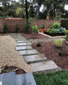 back yard transformation | custom concrete pavers | lawn removal