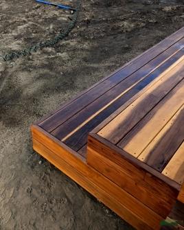 custom deck stairs