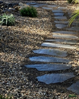 flagstone path | lawn removal